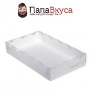 Упаковка для пряников с окном  200*120*35 мм. Белая