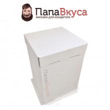 Коробка для торта  300*300*450 мм из гофракортна