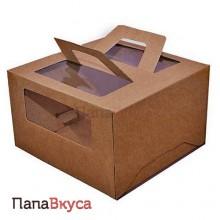 Коробка для торта крафт с руками   240*240*200 см