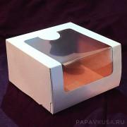 Коробка для пирожных с окошком 180*180*100 мм