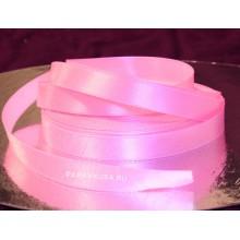 Лента розовая атласная 12 мм (1 метр)