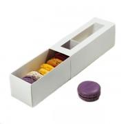 Коробка для печенья или макарони с окошком 185-60-60 мм