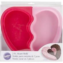 Форма для выпечки сердце силиконовая (26,7*30см)