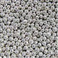 Шарики сахарные Серебрянные 5мм (50гр.)