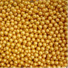 Шарики сахарные Золотые 3мм (50гр.)