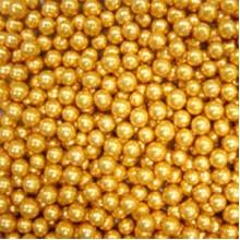 Шарики сахарные Золотые 5мм (50гр.)