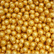 Шарики сахарные Золотые 7мм (50гр.)