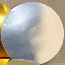Подложка для торта серебро (26см)