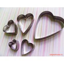 Набор форм для выпечки печенья Сердечки (5шт)